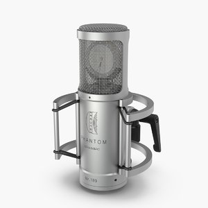 3d model microphone mic brauner