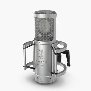 3d model microphone mic brauner
