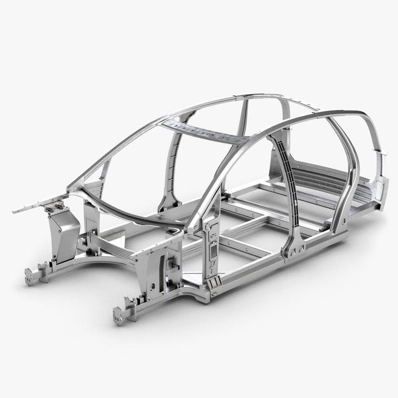 car frame 3d model