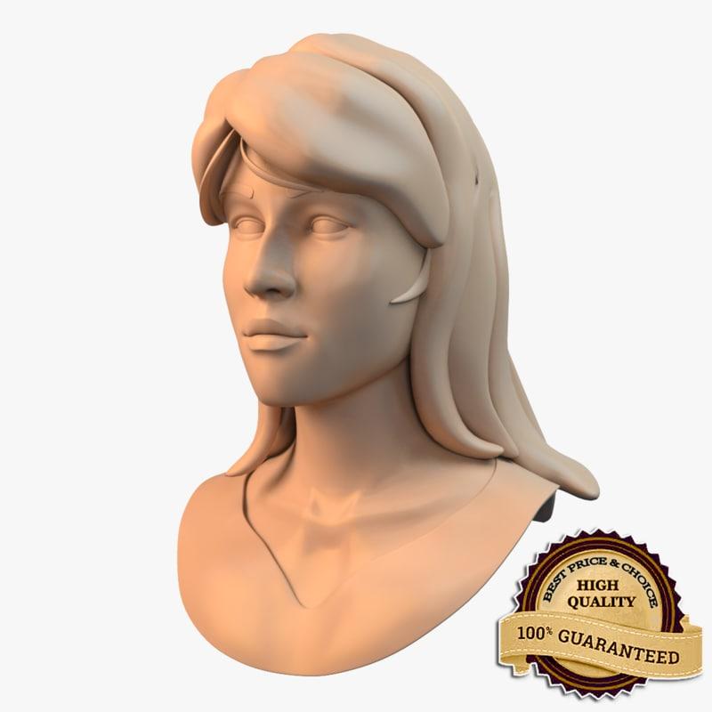 female face 3d model