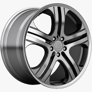 3ds max brabus monoblock wheels