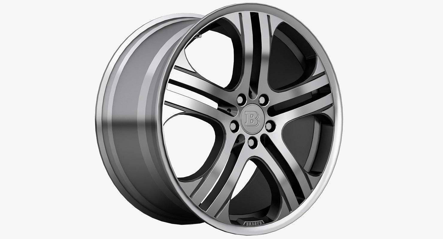 3ds max brabus monoblock wheels