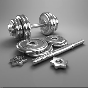 3d chromium-plated dumbbell