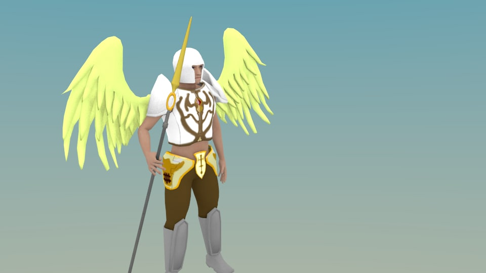 3d obj angel