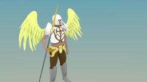 3d obj angel