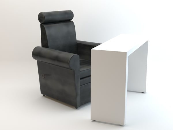 manicure armchair table 3d max