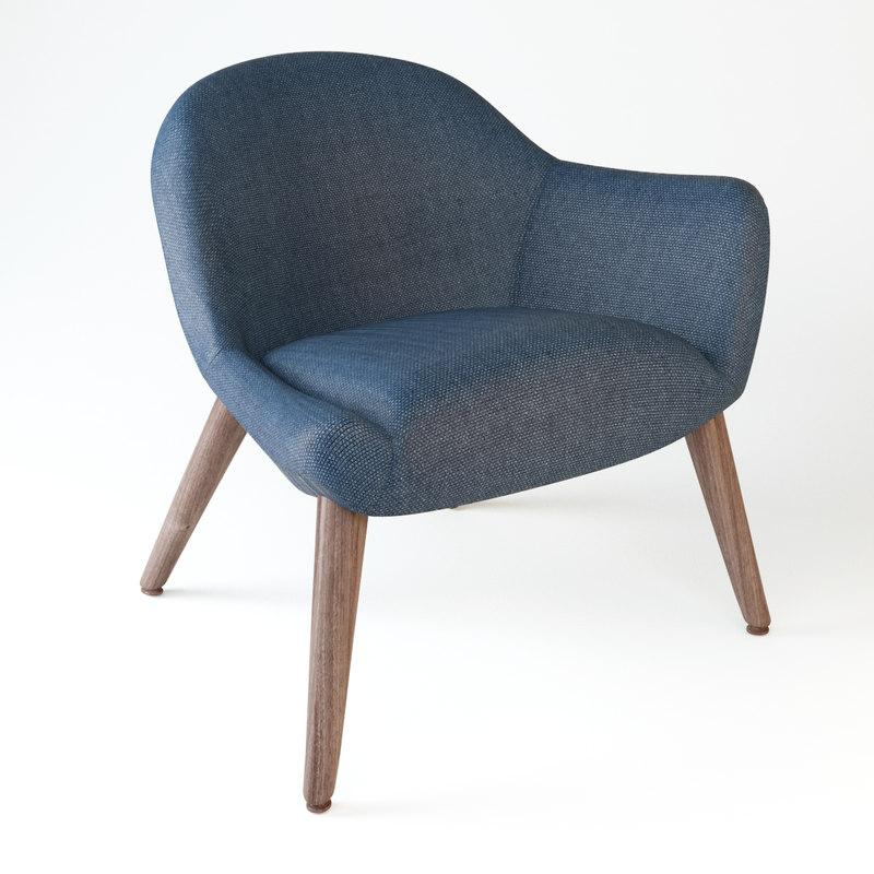 mad chair poliform 3d model