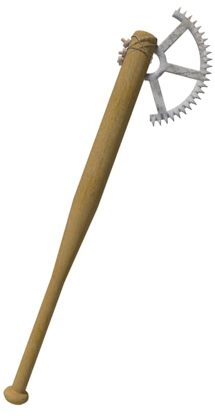 3d model apocalyptic axe