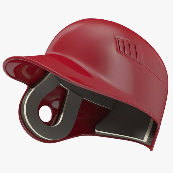 3d model batting helmet 2 modeled