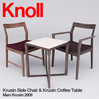 Krusin Side Chair and Krusin Side Table