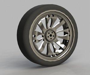 3d model of automobile cast titanium disk