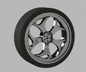 automobile cast titanium disk 3d 3ds