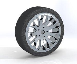 automobile cast titanium disk 3ds