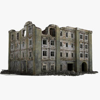 Ruined Building World War 2 WW2 07