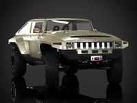 3d model concept hummer