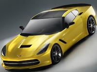 3d model corvette 2014