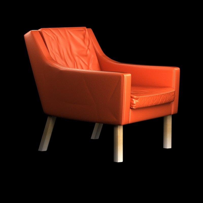 mogensen armchair 3d max