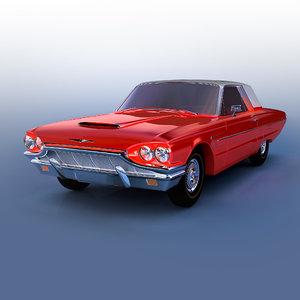 3d model of thunderbird 1965