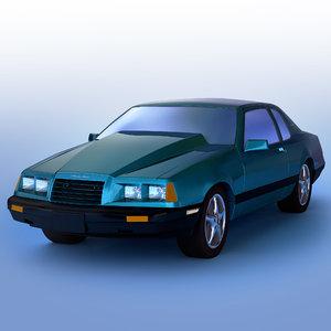 thunderbird 1985 3d model