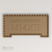carved frame cnc 3d max