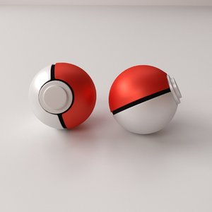 3d pokeball poke ball model