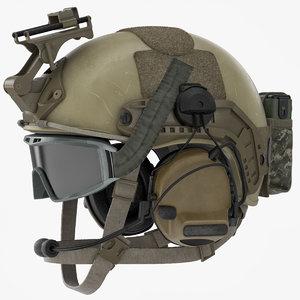 3d model ballistic combat helmet