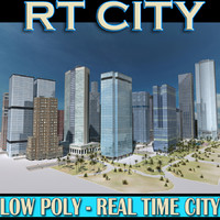 Real time CITY Low-Res Textured