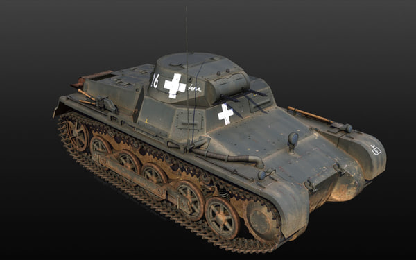 panzer panzerkampfwagen 101 - 3d model