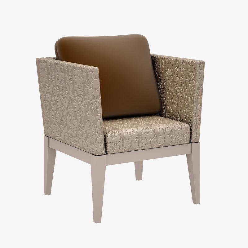 3d model chair zebrano