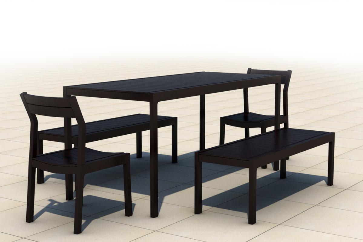 outdoor furniture chair 3d model