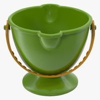 3d toy bucket 2 modeled