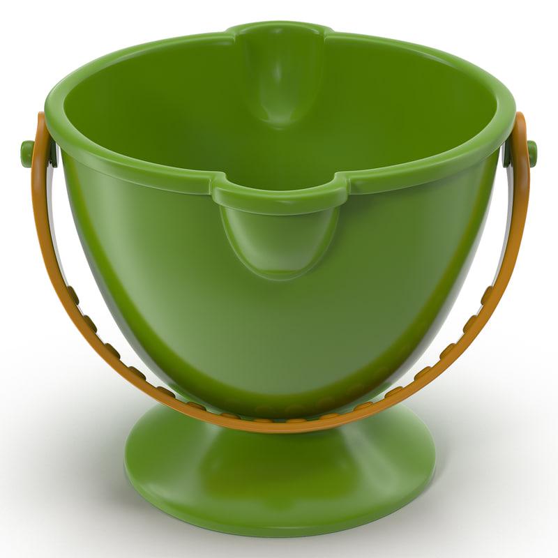 3d toy bucket 2 modeled