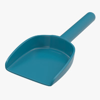 toy shovel 3 modeled 3d model