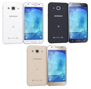 3d model samsung galaxy j5 colors