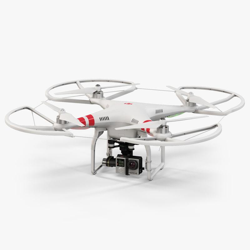 dji phantom 2 quadcopter 3d max