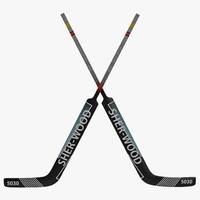 3d model goalie hockey stick
