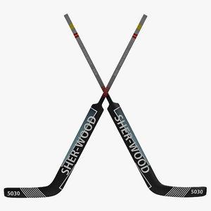 3d model goalie hockey stick