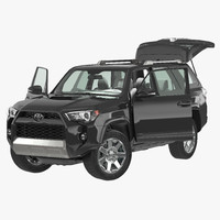 Toyota 4Runner 2015 Rigged 3D Model