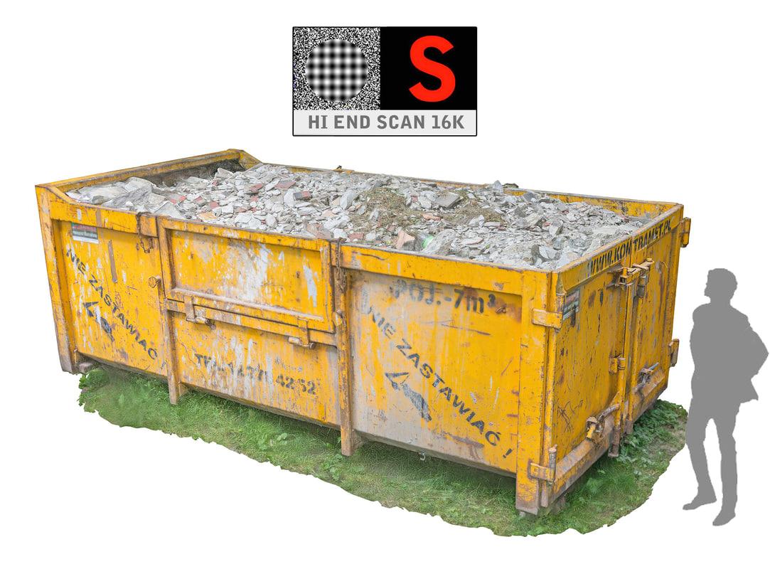 container debris hd 16k 3d model