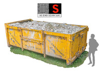 container debris hd 16k 3d model