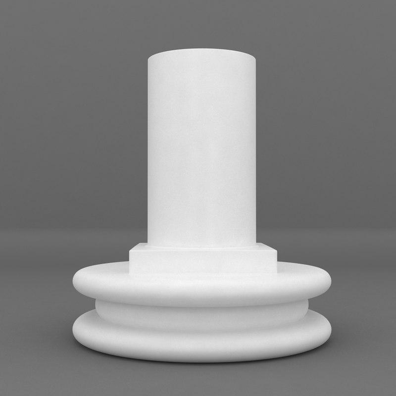 max cylinder pedestal printable