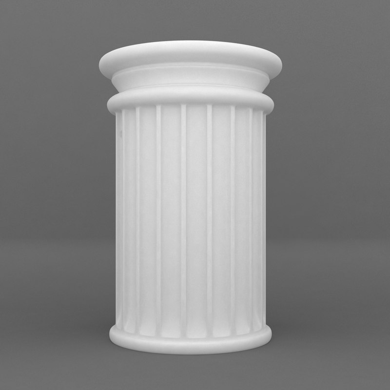 3d printable pedestal model