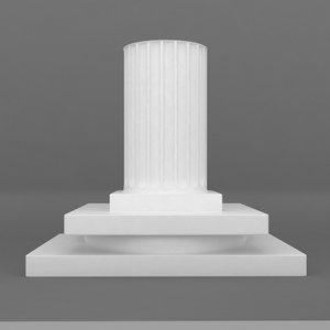 3d rectangular base printable pedestal