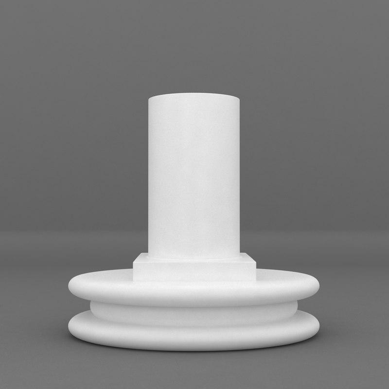 oval base printable pedestal 3d max