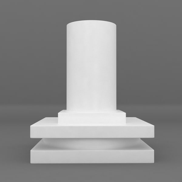 max square base printable pedestal