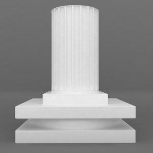 mixed printable pedestal 3d model