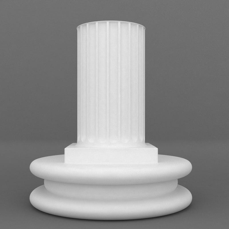 3ds max pedestal designed