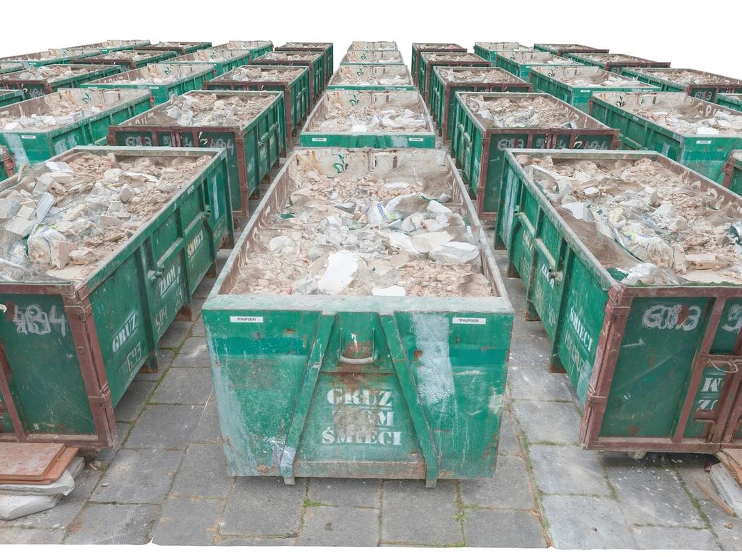 container debris hd 16k 3d max