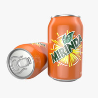 Aluminum Can 0.33L Mirinda 3D Model