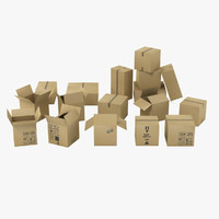 3d model moving boxes